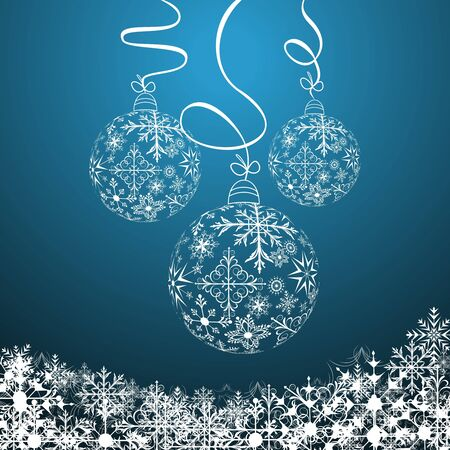 Illustration cute christmas composition with balls   illustration