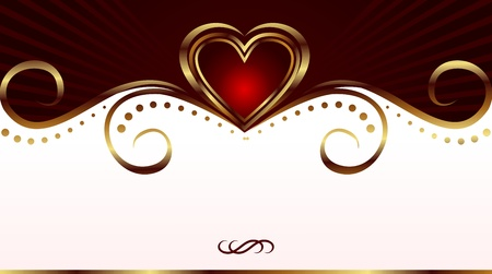 Illustration romantic card for valentines day - vector illustration
