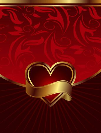 Illustration background for design of packing Saint Valentines Day - vector illustration