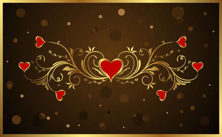 Illustration floral background for Valentines day - vector illustration