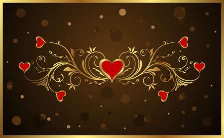 Illustration floral background for Valentines day - vector illustration