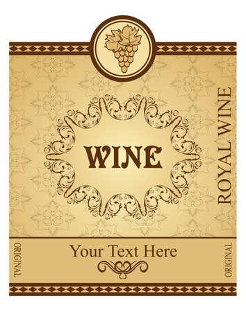 Illustration retro packing for wine - vector