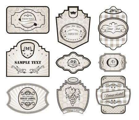Illustration set retro variation vintage labels (4) - vector Stock Illustration - 9247449