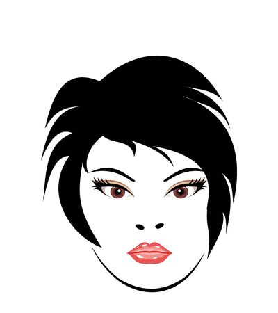 Illustration portrait clous-up beautiful girl - vector illustration
