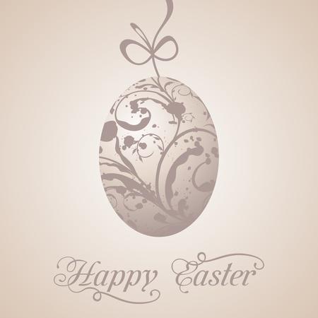 Illustration Easter paschal grunge egg - vector illustration