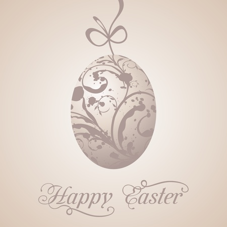 paschal: Illustration Easter paschal grunge egg - vector Stock Photo