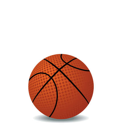 Realistic illustration of basket ball isolated on white background - vector Vector
