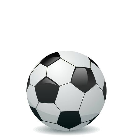 Illustration of soccer ball isolated on white background - vector Vector