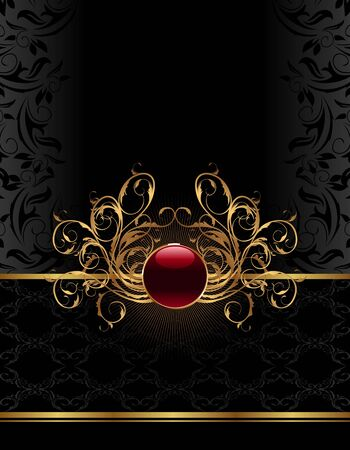 richly: Illustration golden ornate frame for design - vector Illustration