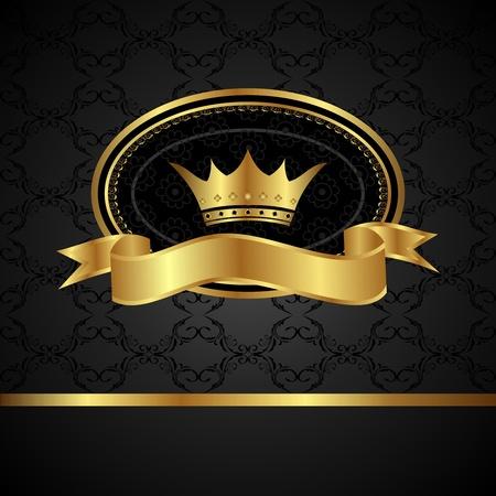 Arrière-plan royal illustration avec cadre doré - vecteur