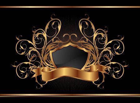 Illustration golden ornate frame for design - vector Stock Vector - 9718311