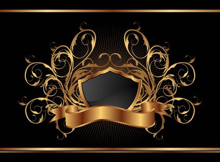 gold frame: Illustration golden ornate frame for design - vector Illustration
