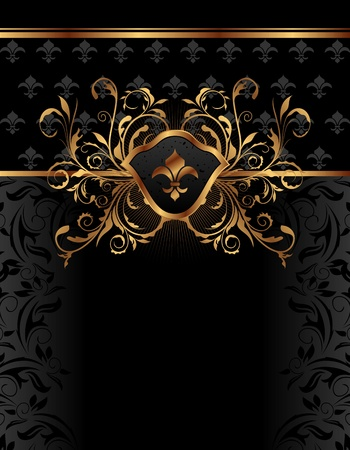 Illustration golden ornate frame for design - vector Illustration
