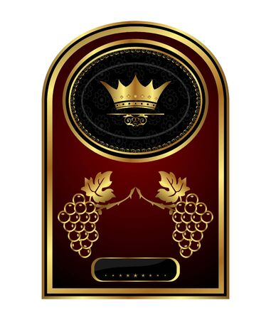 Illustration golden frame label for packing wine- vector Stock Vector - 9722103