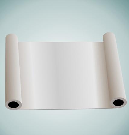 edicto: Rollo de ilustraci�n de papel en blanco para el dise�o - vector
