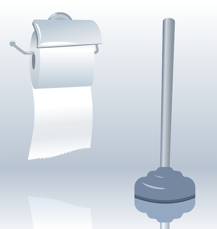 toilet roll: Illustration of toilet roll with realistic shadow - vector