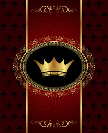 Illustration vintage background with crown - vector illustration