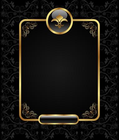 Ilustracja Królewskiej tła ramki Złoty - wektorowe