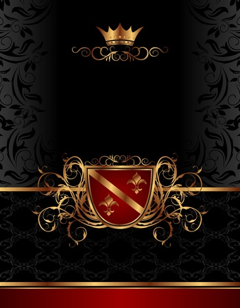 Illustration golden vintage frame for design packing- vector