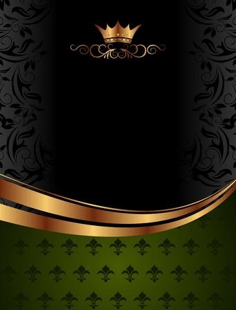 koninklijke kroon: Cute achtergrond illustratie vector met kroon voor de verpakking van de ontwerp - Stockfoto