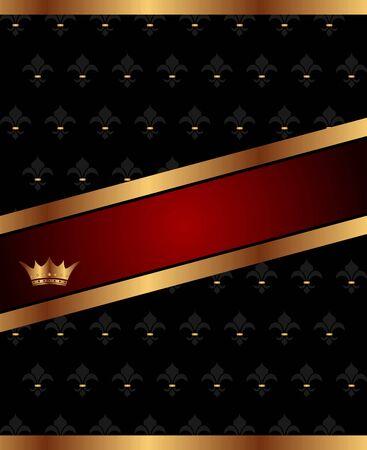 Illustration background with golden luxury crown - vector illustration