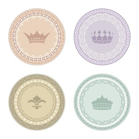 Illustration set of vintage labels - vector Vetores