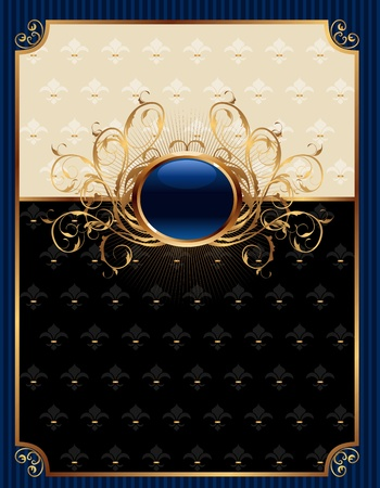 richly: Illustration gold invitation frame or packing for elegant design - vector Illustration