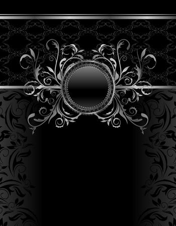 Luksusowy rocznika Ilustracja aluminiowa rama szablon