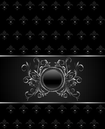 Illustration luxury vintage titanium frame template