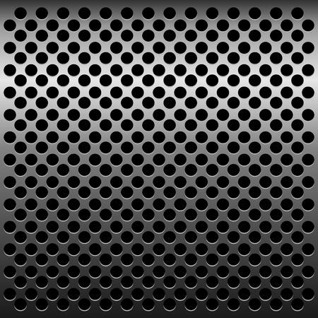 perforated sheet: Illustration of titan metallic texture for design