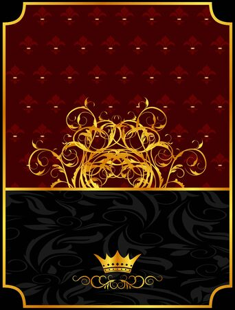 Illustration vintage background with crown  illustration