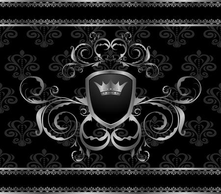 chrom: Illustration luxury vintage aluminum frame template