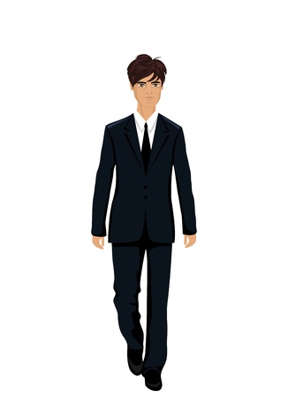 Illustration businessman in suit isolated  illustration