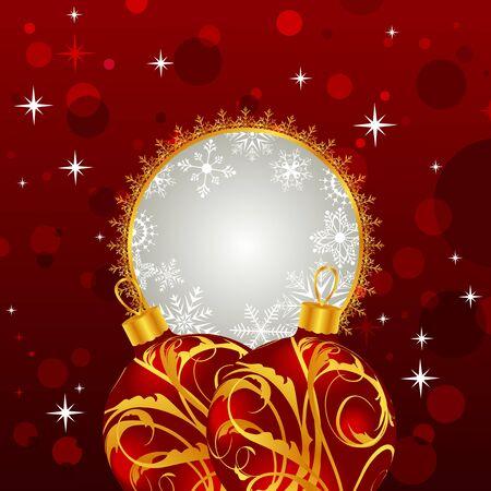 trumpery: Illustration Christmas invitation with balls - vector