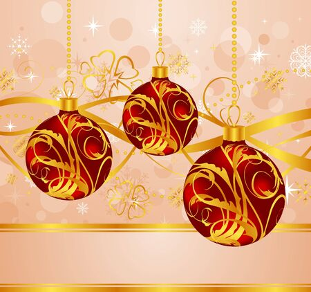 Illustration abstract background with Christmas balls - vector illustration