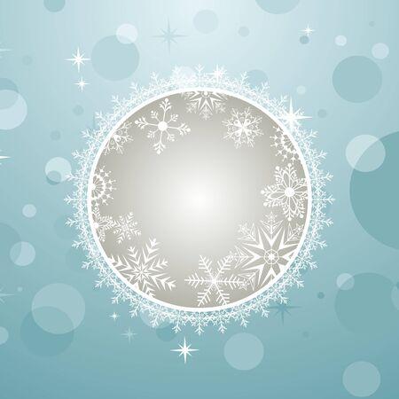 Illustration Christmas invitation with effect bokeh - vector illustration