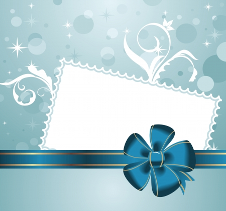 Illustratie leuke kerst achtergrond met wenskaart - vector Stockfoto