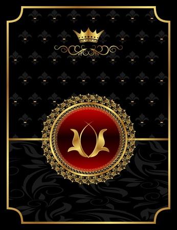 Ilustracja rocznika tle heraldycznej korony - wektor Zdjęcie Seryjne