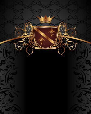 Illustration gold vintage with heraldic elements - vector Stock Illustration - 11781447