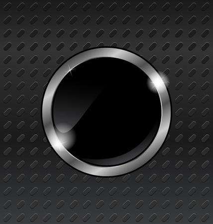 titanium: Illustration speech bubbles on titanium background - vector Stock Photo