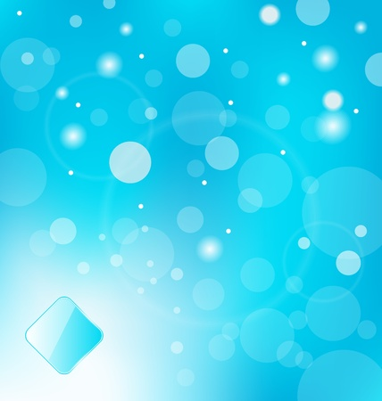 Illustration abstract blue light with label background - vector illustration