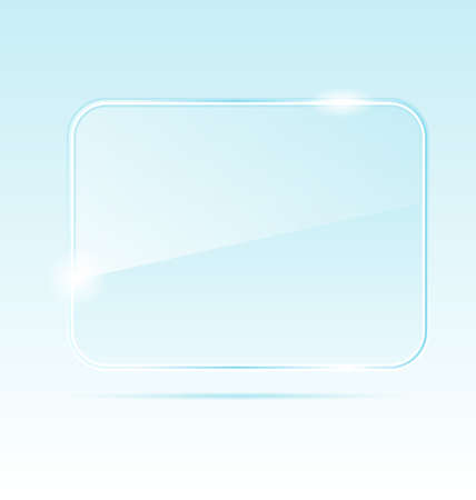 window frame: Illustration abstract transparent glass banner - vector Stock Photo