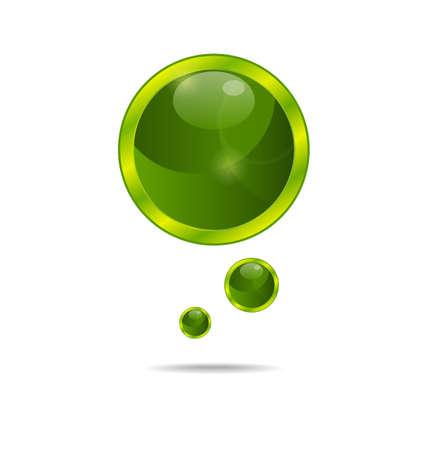 Illustration abstract eco green bubbles - vector illustration