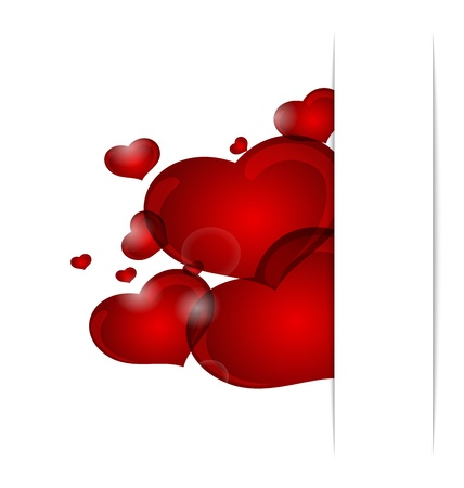 Illustration romantic letter with cute hearts - vector Stock Illustration - 12372443