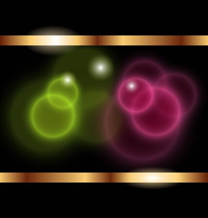 Illustration abstract background with transparent circles - vector Vector