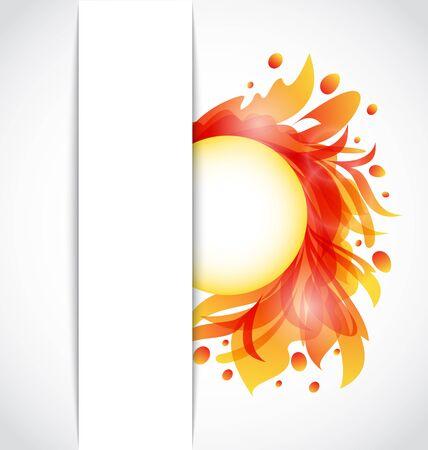 Illustration colorful floral transparent background - vector Stock Vector - 13255604