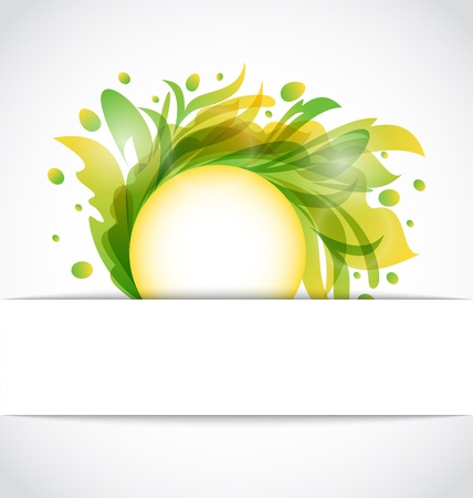 Illustration eco floral transparent background - vector