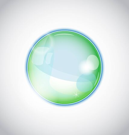 Illustration pearl bubble (ball) isolated on white background - vector