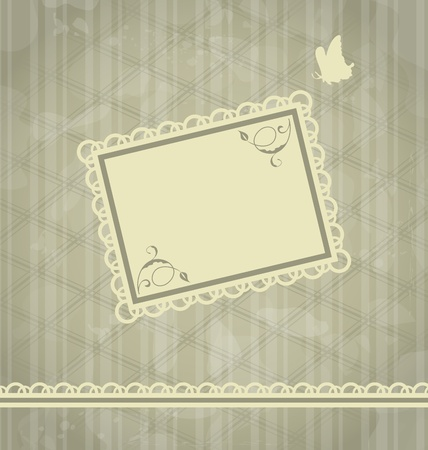 Illustration grunge oldfashioned background with greeting card - vector Stock Vector - 13255593