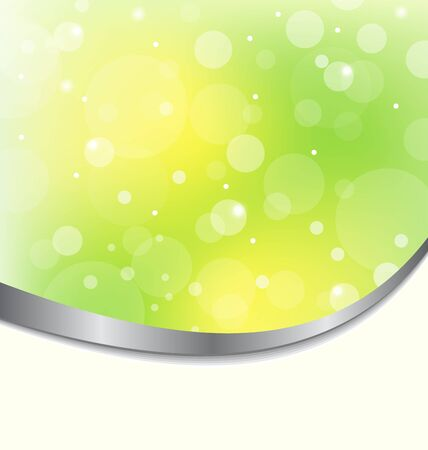 Illustration abstract eco background light green Vector
